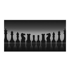 Chess Pieces Satin Wrap by Valentinaart