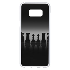 Chess Pieces Samsung Galaxy S8 Plus White Seamless Case by Valentinaart