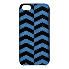 Chevron2 Black Marble & Blue Colored Pencil Apple Iphone 5c Hardshell Case by trendistuff