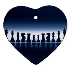 Chess Pieces Ornament (heart) by Valentinaart