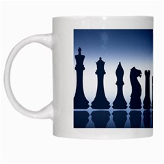 Chess Pieces White Mugs by Valentinaart