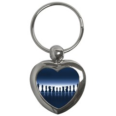 Chess Pieces Key Chains (heart)  by Valentinaart