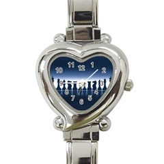 Chess Pieces Heart Italian Charm Watch by Valentinaart