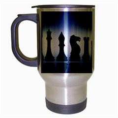 Chess Pieces Travel Mug (silver Gray) by Valentinaart