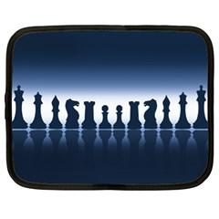 Chess Pieces Netbook Case (xl)  by Valentinaart