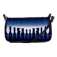 Chess Pieces Shoulder Clutch Bags by Valentinaart