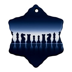 Chess Pieces Ornament (snowflake) by Valentinaart