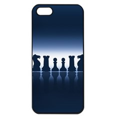 Chess Pieces Apple Iphone 5 Seamless Case (black) by Valentinaart