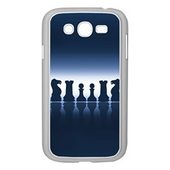 Chess Pieces Samsung Galaxy Grand Duos I9082 Case (white) by Valentinaart