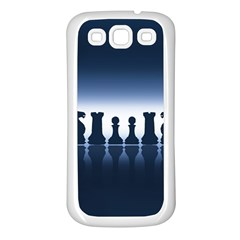 Chess Pieces Samsung Galaxy S3 Back Case (white) by Valentinaart
