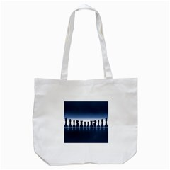 Chess Pieces Tote Bag (white) by Valentinaart