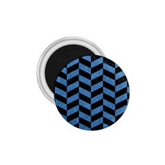 Chevron1 Black Marble & Blue Colored Pencil 1 75  Magnet by trendistuff