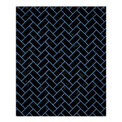 Brick2 Black Marble & Blue Colored Pencil Shower Curtain 60  X 72  (medium) by trendistuff