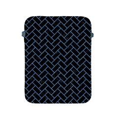 Brick2 Black Marble & Blue Colored Pencil Apple Ipad 2/3/4 Protective Soft Case by trendistuff