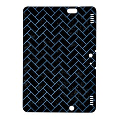 Brick2 Black Marble & Blue Colored Pencil Kindle Fire Hdx 8 9  Hardshell Case by trendistuff