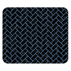 Brick2 Black Marble & Blue Colored Pencil Double Sided Flano Blanket (small) by trendistuff