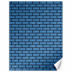 Brick1 Black Marble & Blue Colored Pencil (r) Canvas 18  X 24  by trendistuff