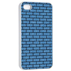 Brick1 Black Marble & Blue Colored Pencil (r) Apple Iphone 4/4s Seamless Case (white) by trendistuff