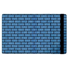 Brick1 Black Marble & Blue Colored Pencil (r) Apple Ipad 3/4 Flip Case by trendistuff