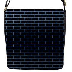Brick1 Black Marble & Blue Colored Pencil Flap Closure Messenger Bag (s) by trendistuff