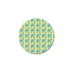 Colorful Triangle Pattern Golf Ball Marker (10 Pack) by berwies