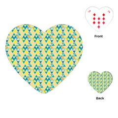 Colorful Triangle Pattern Playing Cards (heart)  by berwies