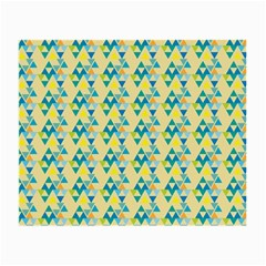 Colorful Triangle Pattern Small Glasses Cloth (2 Side) by berwies