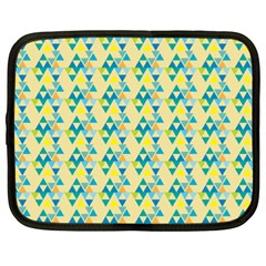 Colorful Triangle Pattern Netbook Case (xxl)  by berwies