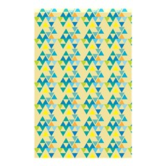 Colorful Triangle Pattern Shower Curtain 48  X 72  (small)  by berwies