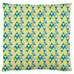 Colorful Triangle Pattern Large Cushion Case (one Side) by berwies