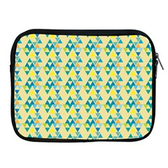 Colorful Triangle Pattern Apple Ipad 2/3/4 Zipper Cases by berwies