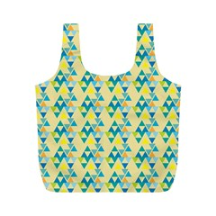 Colorful Triangle Pattern Full Print Recycle Bags (m)  by berwies