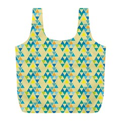 Colorful Triangle Pattern Full Print Recycle Bags (l)  by berwies