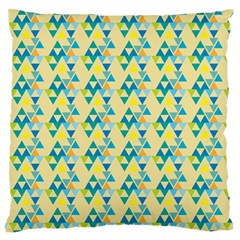 Colorful Triangle Pattern Standard Flano Cushion Case (one Side) by berwies