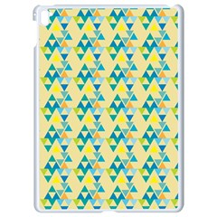 Colorful Triangle Pattern Apple Ipad Pro 9 7   White Seamless Case by berwies