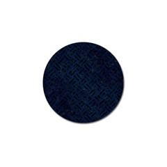 Woven2 Black Marble & Blue Grunge (r) Golf Ball Marker (10 Pack) by trendistuff