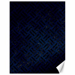 Woven2 Black Marble & Blue Grunge (r) Canvas 12  X 16  by trendistuff