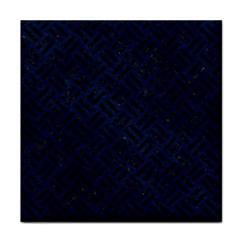 Woven2 Black Marble & Blue Grunge (r) Face Towel by trendistuff