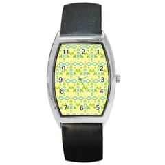 Simple Tribal Pattern Barrel Style Metal Watch