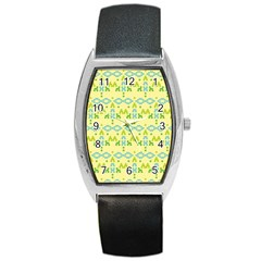 Simple Tribal Pattern Barrel Style Metal Watch by berwies