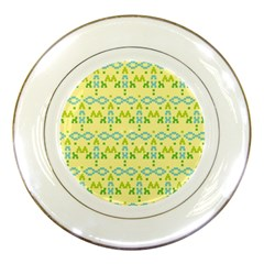 Simple Tribal Pattern Porcelain Plates by berwies