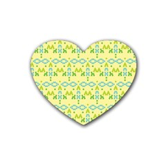 Simple Tribal Pattern Rubber Coaster (heart)  by berwies