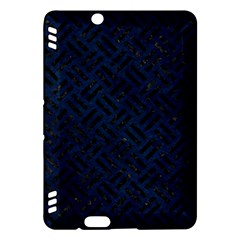 Woven2 Black Marble & Blue Grunge (r) Kindle Fire Hdx Hardshell Case by trendistuff