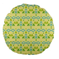 Simple Tribal Pattern Large 18  Premium Flano Round Cushions by berwies