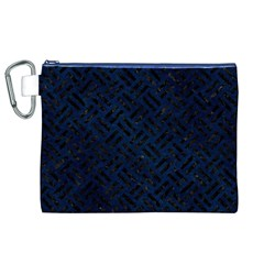 Woven2 Black Marble & Blue Grunge (r) Canvas Cosmetic Bag (xl) by trendistuff