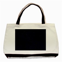 Woven2 Black Marble & Blue Grunge Basic Tote Bag by trendistuff