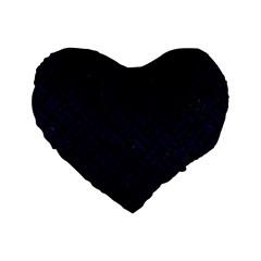 Woven2 Black Marble & Blue Grunge Standard 16  Premium Heart Shape Cushion  by trendistuff