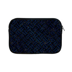 Woven2 Black Marble & Blue Grunge Apple Ipad Mini Zipper Case by trendistuff
