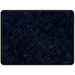Woven2 Black Marble & Blue Grunge Double Sided Fleece Blanket (large) by trendistuff