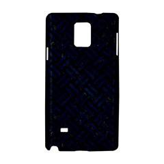 Woven2 Black Marble & Blue Grunge Samsung Galaxy Note 4 Hardshell Case by trendistuff